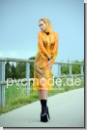 PA3C PVC Raincoat transparent orange
