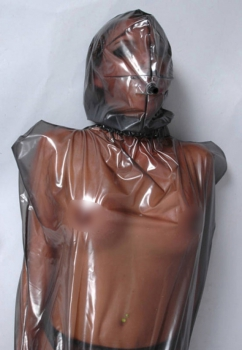 Latex bondage bag