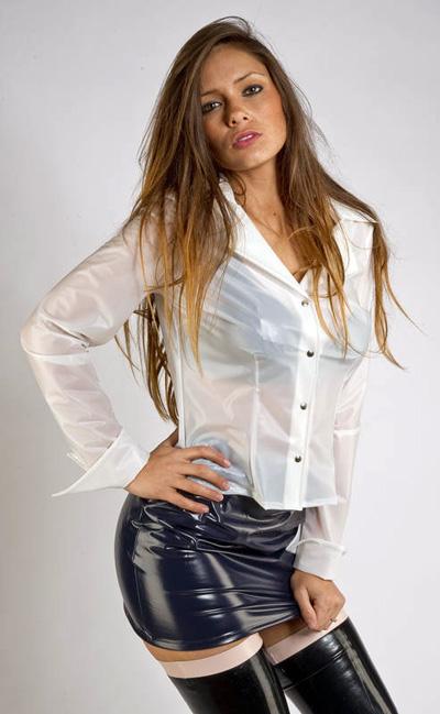 White Satin Blouse Long Sleeve