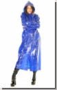 PA3C-PVC Raincoat shiny blue